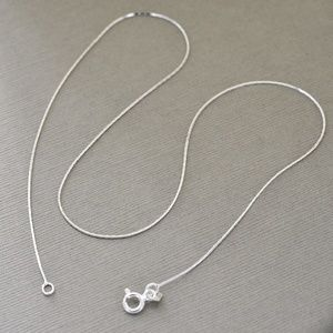 """Jewelry - 16"""" Sterling Silver Chain"""